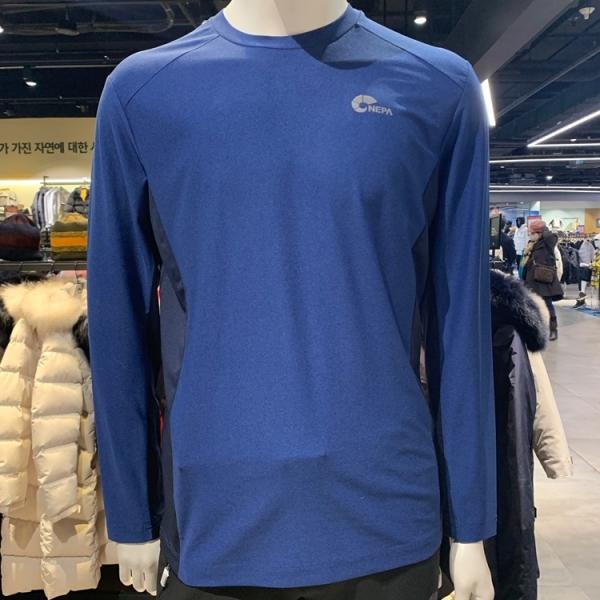 네파 남성 이블리스 라운드 티셔츠 7F55311 845(빅토리 블루)