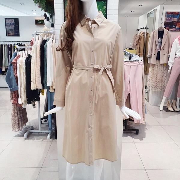 [나인스텝] 올인원 허리끈 셔츠 원피스 A20JK0102